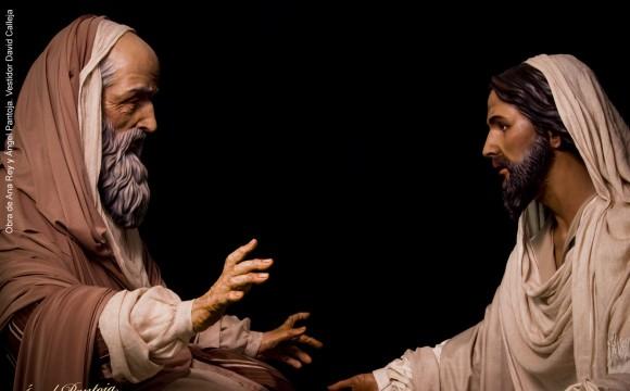 SEÑOR DE LA BONDAD Y MISERICORDIA Y APOSTOL SAN PEDRO  EN EL LAVATORIO DE PIES PARA JEREZ DE LA FRONTERA